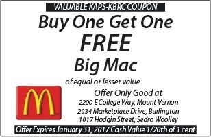 McDonalds Buy One Get One Free Big Mac