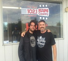 American Idol contestant Joey Hendricks with Mike in the Morning